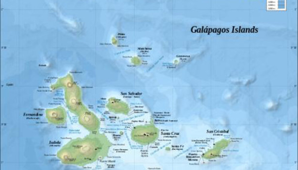Galapagos Graphics: A map of the Galapagos Islands