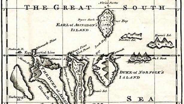 Ambrose Cowley's chart of Galapagos
