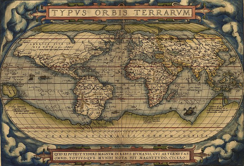 Galapagos People: Abraham Ortelius Map 1570