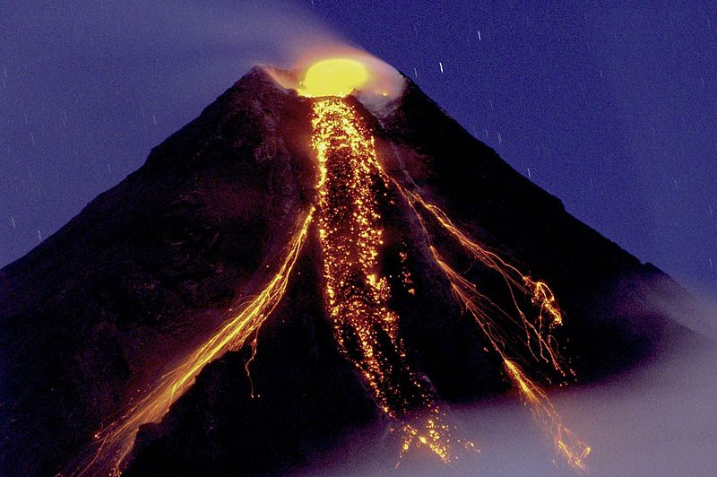 The Mayon Composite Volcano (Philippines) erupting in 2009 © Tryfon Topalidis