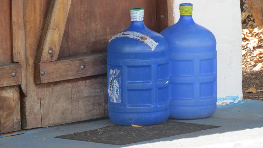 Galapagos People: Delivered water bottles © Galapagos Conservation Trust