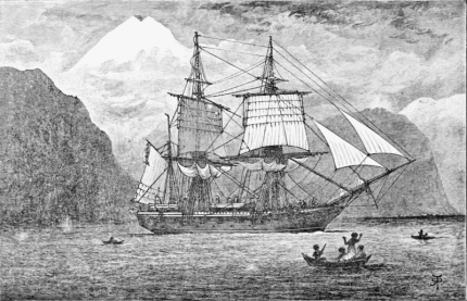 Galapagos Graphics: Painting of HMS Beagle