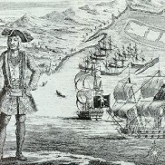 Galapagos Graphics: Engraving of a pirate named Bartholomew Roberts