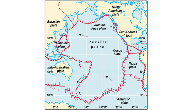The pacific plate © Minnesota State University