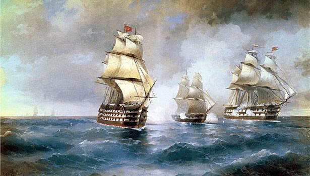 Brig - Ivan Aivazovsky (Public Domain)